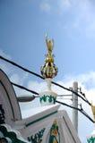 Détail architectural de la mosquée ou du Masjid Tengkera de Tranquerah Photographie stock libre de droits