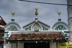 Détail architectural de la mosquée ou du Masjid Tengkera de Tranquerah Image stock