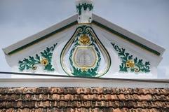 Détail architectural de la mosquée ou du Masjid Tengkera de Tranquerah Photo libre de droits