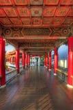 Détail architectural de passage couvert dans le jardin chinois photographie stock libre de droits
