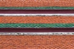 Détail architectural des tuiles de toit de Wat Phra Kaew, temple d'Emerald Buddha, Bangkok, Thaïlande Photo stock