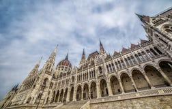 Détail architectural du bâtiment du parlement à Budapest, Hongrie Photos libres de droits
