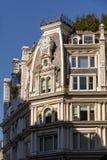 Détail architectural du deuxième bâtiment d'empire, Chelsea, nouveau Yor photo libre de droits