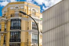 Détail architectural moderne à Madrid, Espagne images libres de droits