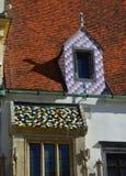 Détail architectural sur vieux hôtel de ville, Bratislava images libres de droits