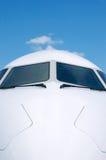 Détail avant de l'avion blanc Image stock