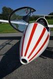 Détail avant plat de vue de fuselage de planeur Photos libres de droits