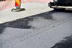 Détail avec le pavage d'asphalte images stock