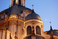Détail baroque d'église de Consolata photographie stock libre de droits