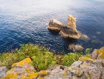 Détail côtier en Galicie, Espagne. image stock