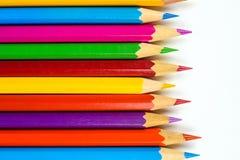 Détail coloré de crayons Images libres de droits