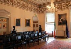Détail complexe de pièce comportant les auteurs célèbres, Dublin Writers Museum, Dublin, Irlande, 2014 Photo stock