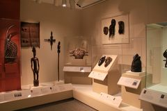 Détail complexe en objets façonnés du ` s de collection, Art Gallery commémoratif, Rochester, New York, 2017 image libre de droits