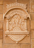 Détail décoratif de fort de Jaisalmer dans Jaisalmer, Ràjasthàn, dedans Photographie stock