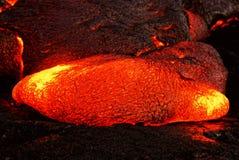 Détail d'écoulement de lave d'Hawaï Kilauea photos stock