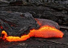Détail d'écoulement de lave d'Hawaï Kilauea photographie stock libre de droits