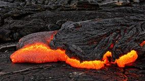 Détail d'écoulement de lave d'Hawaï Kilauea image stock