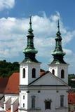 Détail d'église de rue Michael à Brno Photographie stock