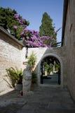 Détail d'église de rue Peter dans Supetar Photographie stock libre de droits