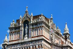Détail d'église gothique de notre Madame de Lourdes Rijeka Croatia image libre de droits