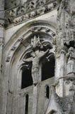 Détail d'église gothique de ruines Photographie stock