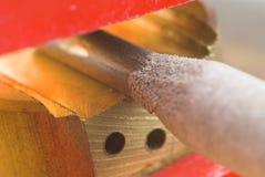 Détail d'électrode de soudure Photo libre de droits