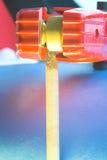 Détail d'électrode de soudure Images libres de droits