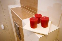 Détail d'étagère de salle de bains Photo libre de droits