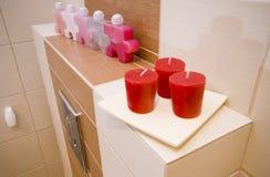 Détail d'étagère de salle de bains Photographie stock libre de droits