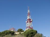Détail d'antenne de télécommunication Image libre de droits