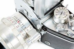 Détail d'appareil-photo analogue de photo de rétro vieux vintage Photographie stock libre de droits