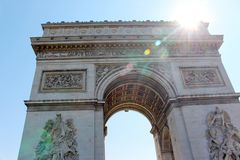 Détail d'Arc de Triomphe à Paris photographie stock libre de droits