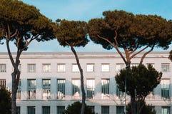 Détail d'architecture d'un bâtiment en Roma Eur Photographie stock libre de droits