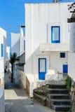 Détail d'architecture d'une rue sur l'île de Panarea, Italie Photographie stock