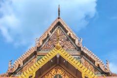 Détail d'architecture dans le temple vert de Bouddha Photos stock