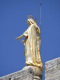 Détail d'architecture de cathédrale d'Avignon, France image libre de droits