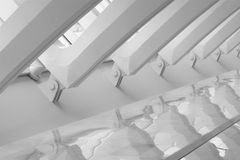 Détail d'architecture des poutres transversales Images libres de droits