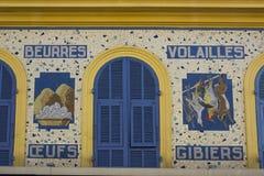 Détail d'art de mur à Nice, Frances images stock