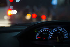 Détail d'automobile de tableau de bord de voiture Image stock