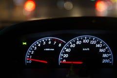 Détail d'automobile de tableau de bord de voiture Image libre de droits