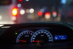 Détail d'automobile de tableau de bord de voiture Photo libre de droits