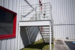Détail d'escalier de construction industrielle image stock