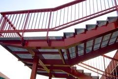 Détail d'escaliers de fer Photo stock