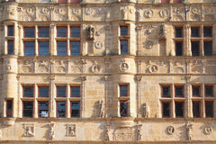 détail d'hôtel de la ville Paray-le-Monial Photographie stock libre de droits