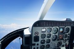 Détail d'habitacle d'hélicoptère Image stock