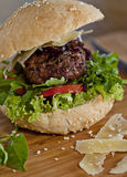 Détail d'hamburger Photos libres de droits