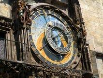 Détail d'horloge astronomique - République Tchèque, Prague, vieille place images libres de droits