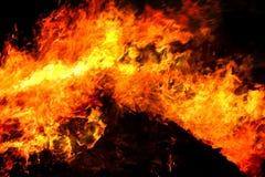 Détail d'incendie Photos libres de droits