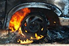 Détail d'incendie de véhicule photographie stock libre de droits