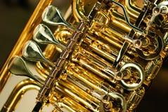 Détail d'instrument en laiton photographie stock